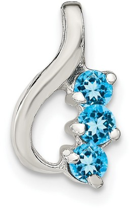 Sterling Silver rhodium Plated Created Opal Daisy Slide New