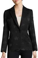 Helene Berman Jacquard Button-Front Jacket
