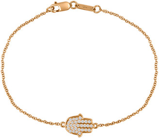 Nephora 14K Rose Gold 0.17 Ct. Tw. Diamond Hamsa Bracelet