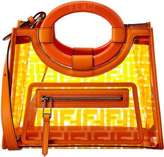 Fendi Runaway Ff Small Leather & Pvc Shopper Tote