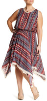 Angie Handkerchief Hem Crochet Dress (Plus Size)