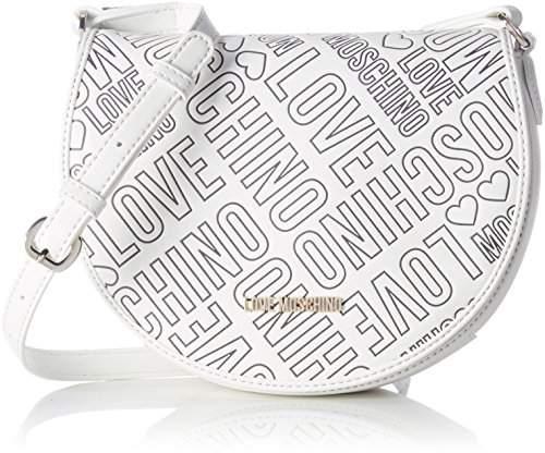 Love Moschino Borsa Embossed Pu Bianco, Women's Shoulder Bag, Weiß (), 18 x 23 8 cm (wxhxd)
