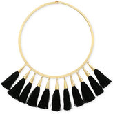 Vince Camuto Gold-Tone Jet Multi-Tassel Statement Necklace