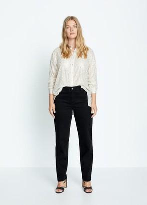 MANGO Violeta BY Sequin shirt silver - 10 - Plus sizes