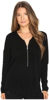 The Kooples Sweater with a Zip Neckline in Wool and Cashmere Women's Sweater