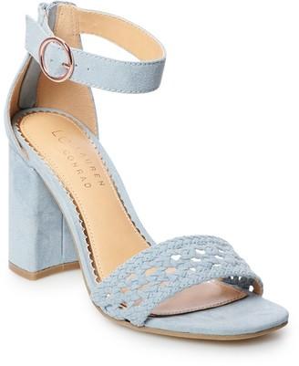 Lauren Conrad Talc Women's Block Heel Sandals