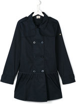 Armani Junior double breasted coat - kids - Cotton - 14 yrs