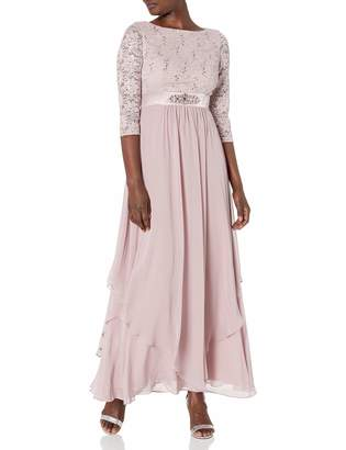 Jessica Howard Jessicahoward JessicaHoward Women's Lace Bodice Gown with Inset Waist
