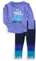 Under Armour Infant Girl's This Is My Show Graphic Tee & Leggings Set