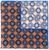 Kiton arabesque print pocket square