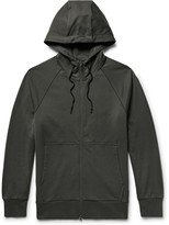 Y-3 - Printed Loopback Stretch-cotton Jersey Zip-up Hoodie