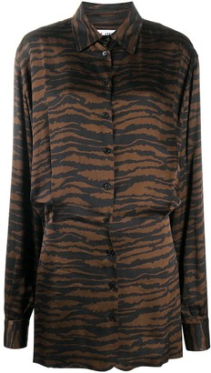 ATTICO Gigi zebra-print shirt dress