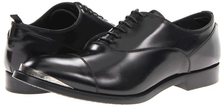 Alexander McQueen Cap Toe Brogue (Bordeaux/Black) - Footwear
