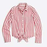 J.Crew Factory Striped tie-waist shirt