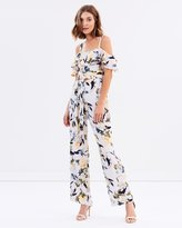 Miss Selfridge Pacific Military Floral Pinafore Jumpsuit