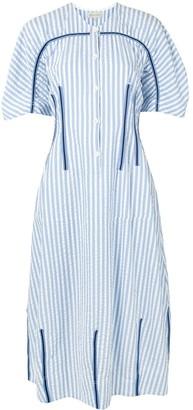 Lee Mathews Tengo striped seersucker dress