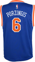 adidas Kids' Kristaps Porzingis New York Knicks Revolution 30 Jersey, Big Boys (8-20)