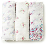 Aden Anais Aden + Anais Baby Girls Flower Child 3-Pack Silky Soft Swaddle Blankets