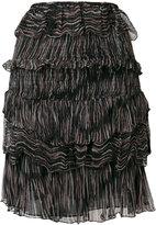 IRO Canwood printed tiered skirt - women - Viscose - 36
