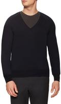 Jil Sander Wool V-Neck Ribbed Sweater