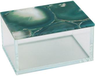 Sagebrook Home Green Agate Top Glass Box