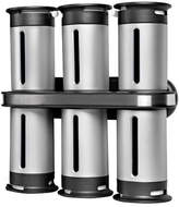 Zevro Zero Gravity Wall-Mount Magnetic Spice Rack 6 Canisters