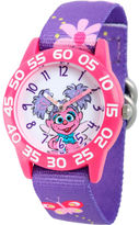 Sesame Street Girls Purple Abby Cadabby Flower Time Teacher Strap Watch W003190