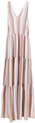 Adriana Degreas Striped Long Dress