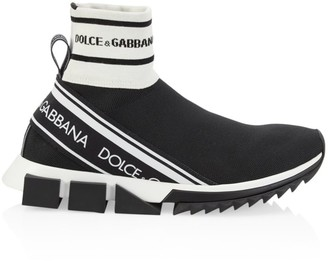 Dolce & Gabbana Sorrento High-Top Chunky Sock Sneakers