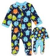 Little Me Baby-Boys Monster Blanket Sleeper