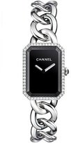 Chanel PREMIèRE Steel Chain Watch with Diamonds, Large Size
