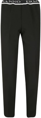 Ermanno Scervino Ribbed Waist Classic Trousers