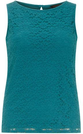 Dorothy Perkins Teal lace front shell top