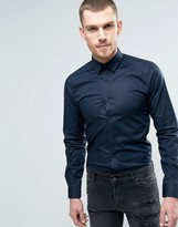 HUGO BOSS HUGO by Efi Shirt Super Slim Fit Super Stretch in Navy