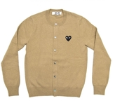 Comme des Garcons Cardigan With Small Black Heart Emblem