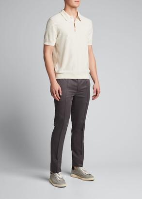 Brioni Men's Silk Drawstring-Waist Pants