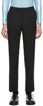 Raf Simons Black Ankle Zip Trousers