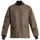 Chimala Reversible checked wool bomber jacket
