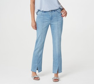 Lisa Rinna Collection Indigo Wash Jeans with Seam Detail