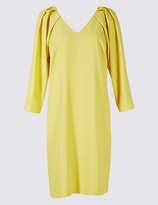 M&S Collection Pleated 3/4 Sleeve Tunic Dress
