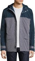 Original Penguin Colorblock Rain Jacket, Dark Sapphire