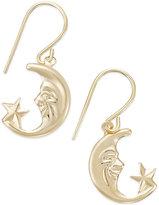 Macy's Moon and Star Drop Earrings in 10k Gold