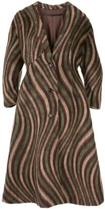 Muller of Yoshio Kubo Swirl-Print Mid-Length Coat