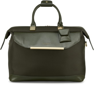Ted Baker Albany Softside Leather & Twill Weekend Bag