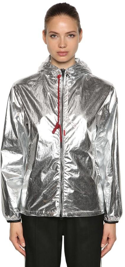 Moncler Mikael Metallic Coated Cotton Jacket