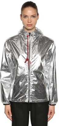 Moncler Mikael Metallic Coated Cotton Jacket