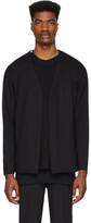 N.Hoolywood Black Jersey Cardigan