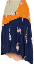 Thumbnail for your product : Preen Line Lilja Asymmetric Patchwork Floral-print Crepe De Chine Skirt