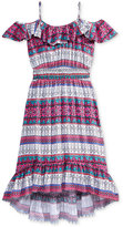 Epic Threads Multicolor Off-The-Shoulder Maxi Dress, Big Girls (7-16), Created for Macy's