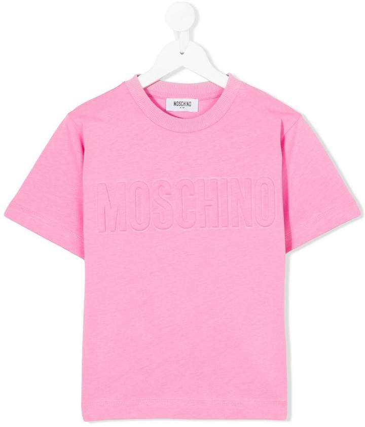 Moschino Kids embossed logo T-shirt